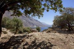 Paesaggio ad ovest del Crete Fotografie Stock Libere da Diritti