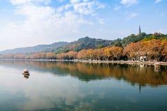 Paesaggio ad ovest del lago Hangzhou immagine stock libera da diritti
