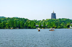Paesaggio ad ovest del lago hangzhou, in Cina fotografia stock