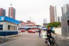 Paesaggio ad ovest della stazione ferroviaria di Shenzhen Immagine Stock