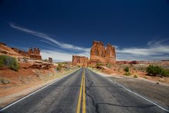 Paesaggio ad ovest lontano fotografie stock libere da diritti
