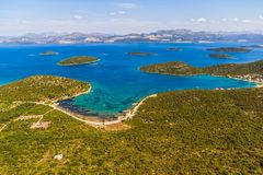 Paesaggio adriatico - penisola di Peljesac in Croazia Immagine Stock Libera da Diritti