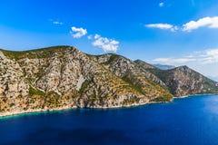 Paesaggio adriatico, penisola di Peljesac in Croazia Immagini Stock