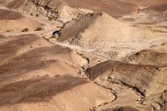 Paesaggio aereo del deserto della Giudea fotografia stock libera da diritti