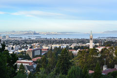 Paesaggio aereo della città universitaria dell'istituto universitario Fotografia Stock