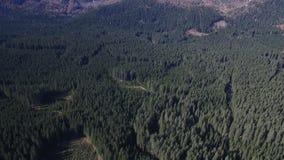 Paesaggio aereo della montagna archivi video