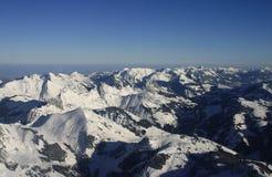 Paesaggio aereo delle alpi Fotografia Stock