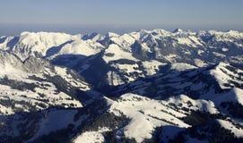 Paesaggio aereo delle alpi Fotografie Stock