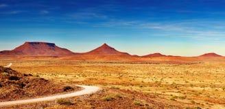 Paesaggio africano, Damaraland, Namibia Fotografie Stock