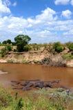Paesaggio africano della regione selvaggia Fotografie Stock