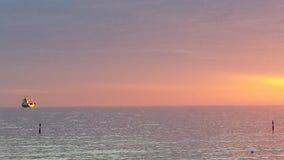 Paesaggio  al  tramonto. Paesaggio  di  mare  durante  un  tramonto Stock Photography