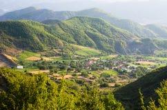 Paesaggio albanese degli altopiani Fotografia Stock