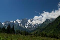 Paesaggio all'alta strada alpina di Grossglockner, Austria Fotografie Stock Libere da Diritti