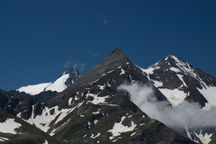 Paesaggio all'alta strada alpina di Grossglockner, Austria Fotografia Stock Libera da Diritti