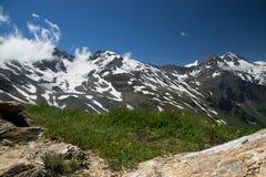 Paesaggio all'alta strada alpina di Grossglockner, Austria Fotografie Stock