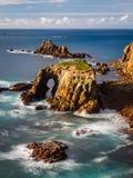 Paesaggio all'estremità Cornovaglia Inghilterra della terra fotografia stock