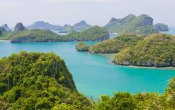 Paesaggio all'isola di samui Fotografie Stock Libere da Diritti