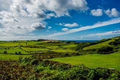 Paesaggio alla costa dell'Irlanda Immagini Stock Libere da Diritti