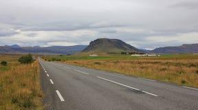 Paesaggio alla costa ovest dell'Islanda Ring Road Fotografie Stock Libere da Diritti