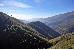 Paesaggio Alpes-Maritimes della montagna Fotografia Stock