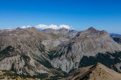 Paesaggio in alpi Fotografie Stock