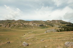 Paesaggio in alpi Fotografie Stock Libere da Diritti