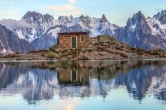Paesaggio in alpi europee Fotografie Stock