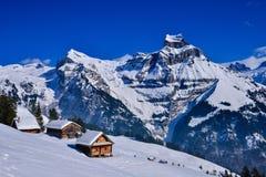 Paesaggio alpino al sole Fotografia Stock Libera da Diritti