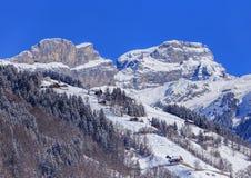 Paesaggio alpino all'inizio della molla Immagini Stock
