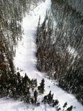 Paesaggio alpino alle montagne di Blackcomb di Whistler Fotografia Stock
