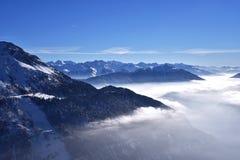 Paesaggio alpino, alpi austriache Fotografia Stock
