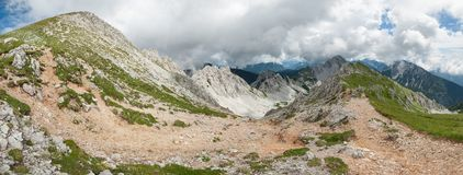 Paesaggio alpino austriaco, Hochstuhl, Karawanks, Austria Fotografie Stock