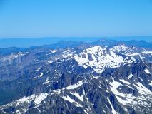 Paesaggio alpino della gamma di montagne da Aiguille du Midi Immagine Stock Libera da Diritti