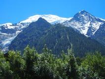 Paesaggio alpino della gamma di montagne nelle ALPI francesi, italiane e svizzere di bellezza Fotografie Stock Libere da Diritti