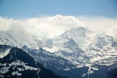 Paesaggio alpino della montagna delle alpi, cima di Europa, Svizzera Fotografie Stock Libere da Diritti