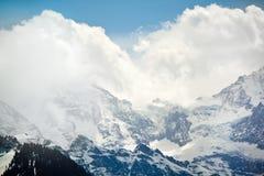 Paesaggio alpino della montagna delle alpi, cima di Europa, Svizzera Fotografia Stock