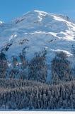 Paesaggio alpino della montagna delle alpi a St Moritz Fotografie Stock