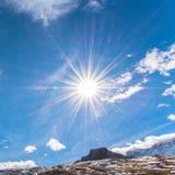 Paesaggio alpino della montagna delle alpi, Zermatt, Svizzera Fotografie Stock Libere da Diritti