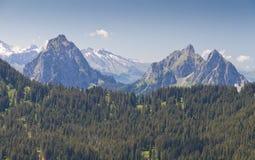 Paesaggio alpino della montagna, Svizzera Fotografia Stock