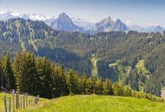 Paesaggio alpino della montagna, Svizzera Immagine Stock Libera da Diritti