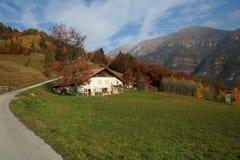 Paesaggio alpino di autunno Fotografia Stock Libera da Diritti