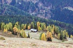 Paesaggio alpino di autunno Goldeck, Carinzia, Austria Fotografia Stock