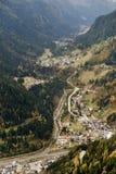 Paesaggio alpino di autunno nelle dolomia Immagini Stock Libere da Diritti