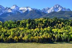 Paesaggio alpino di Colorado durante il fogliame Immagine Stock