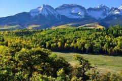Paesaggio alpino di Colorado durante il fogliame Fotografia Stock