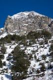 Paesaggio alpino di inverno Immagine Stock