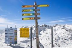 Paesaggio alpino di inverno Fotografie Stock Libere da Diritti