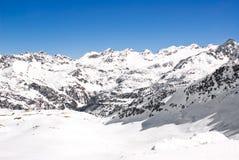 Paesaggio alpino di inverno Fotografie Stock
