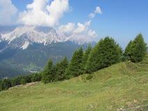 Paesaggio alpino di Sesto Dolomites, Tirolo del sud, Italia Immagine Stock Libera da Diritti