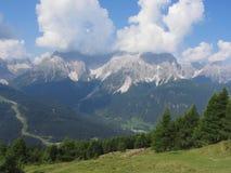 Paesaggio alpino di Sesto Dolomites, Tirolo del sud, Italia Fotografia Stock